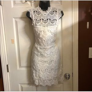 White Free People bodycon lace dress